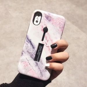 Accessories - NEW iPhone X/7/8/7+/8+ Marble Ring Stand Case